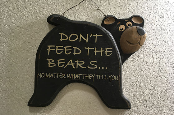 Bear Den Sign | Second Wind Country Inn, Ashland, WI