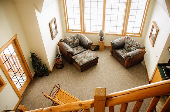 Lumberjack Livingroom   Second Wind Country Inn, Ashland, WI