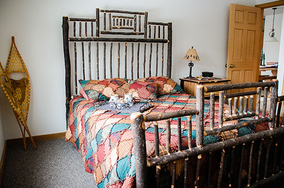 Lumberjack Loft Bedroom | Second Wind Country Inn, Ashland, WI