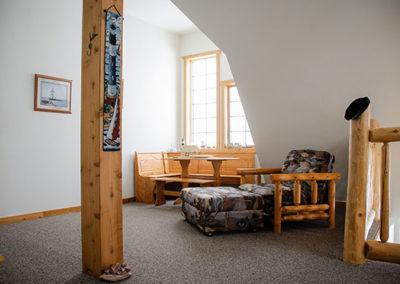 Northern Lights Loft Upstairs Livingroom   Second Wind Country Inn, Ashland, WI