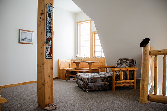 Northern Lights Loft Upstairs Livingroom | Second Wind Country Inn, Ashland, WI