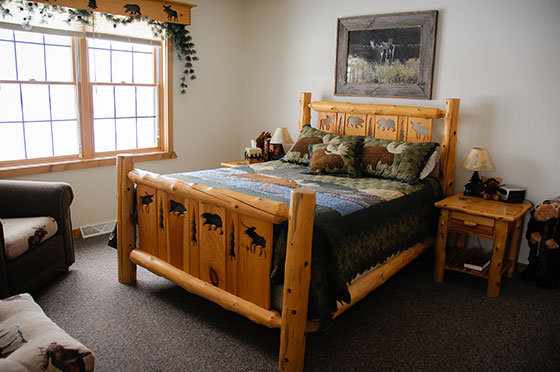 Northern Lights Loft Bedroom | Second Wind Country Inn, Ashland, WI