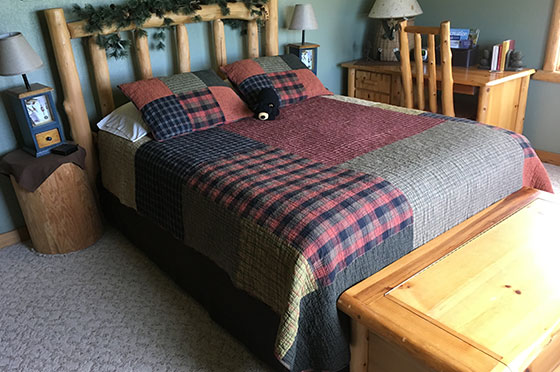 Pinecone Hollow Bedroom | Second Wind Country Inn, Ashland, WI